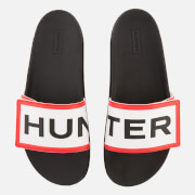 Hunter Women's Original Adjustable Logo Slide Sandals - Black