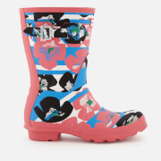 Hunter Women's Original Floral Stripe Short Wellies - Floral Stripe/Peony