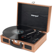 Intempo 3 Speed Bluetooth Turntable with Built-In Speakers - Brown