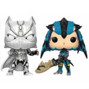 Pack 2 Figuras Pop! Vinyl Exclusivas Pantera Negra vs. Monster Hunter - Marvel vs Capcom