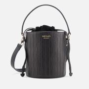 meli melo Women's Santina Mini Woven Bucket Bag - Black Woven