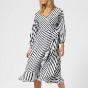 Gestuz Women's Strielle Dress - Dark Blue/White