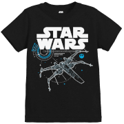 Star Wars The Last Jedi X-Wing Kid's Black T-Shirt