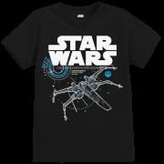 Star Wars Die letzten Jedi (The Last Jedi) X-Wing Kid's Schwarz T-Shirt