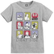 Star Wars Die letzten Jedi (The Last Jedi) Light Side Kid's Grau T-Shirt
