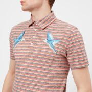 Maison Kitsuné Men's Surf Stripe Polo Shirt - Red Stripes