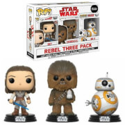 Pack Exclusivo 3 Figuras Pop! Vinyl Los Buenos - Star Wars: Los últimos Jedi