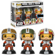 Pack 3 Figuras Pop! Vinyl Exclusivas Pilotos Wedge, Biggs & Porkins - Star Wars