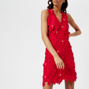 MICHAEL MICHAEL KORS Women's Floral Lace Dress - True Red