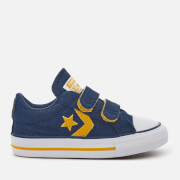 Converse Toddlers' Star Player Ev 2V Ox Trainers - Navy/Mineral Yellow/White