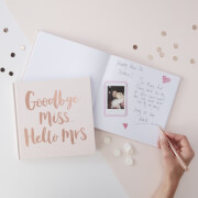 Ginger Ray Team Bride Advice Book - Rose Gold