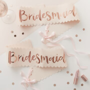 Ginger Ray Bridesmaid Sash - Pink/Rose Gold (2 Pack)