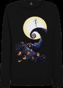 The Nightmare Before Christmas Jack Skellington Pumpkin King Colour Women's Black Sweatshirt