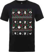 The Nightmare Before Christmas Jack Sally Zero Faces Black T-Shirt