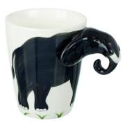 Parlane Elephant Mug - White/Grey