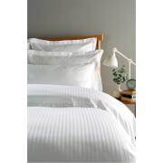 Christy 300TC Sateen Stripe Duvet Cover - White