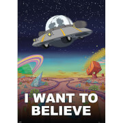 Rick and Morty I Want to Believe Giant Poster 100 x 140cm