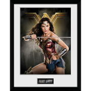 Justice League Wonder Woman Solo Framed Photograph 12 x 16 Inch