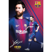 Barcelona Messi Collage 17/18 Maxi Poster 61 x 91.5cm