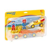 Playmobil 1.2.3 : Voiture de course avec camion de transport (6761)