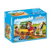 Playmobil : Enfants avec chariot et poney (6948)