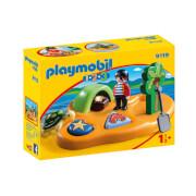 Playmobil 1.2.3 : île de pirate (9119)