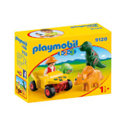 Playmobil 1.2.3 Explorer with Dinos (9120)