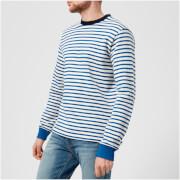 PS by Paul Smith Men's Regular Fit Breton Sweatshirt - White/Blue