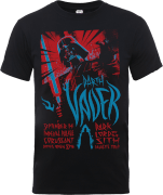 Star Wars Darth Vader Rock Poster T-Shirt - Schwarz