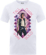 T-Shirt Homme Han Solo Tall Dark - Star Wars - Blanc