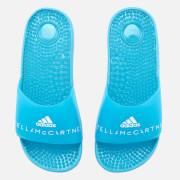 adidas by Stella McCartney Women's Adissage Slider Sandals - Mirror Blue/Mirror Blue/FTWR White