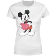 Disney Mickey Mouse Heart Gift Women's T-Shirt - White