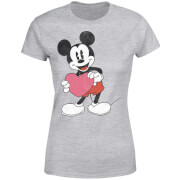 Disney Mickey Mouse Heart Gift Women's T-Shirt - Grey