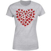 Disney Mickey Mouse Heart Silhouette Frauen T-Shirt - Grau