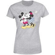 Disney Mickey Mouse Minnie Kiss Dames T-shirt - Grijs