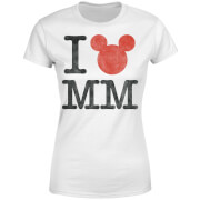 Disney Mickey Mouse I Heart MM Frauen T-Shirt - Weiß