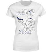 Disney Princess Cinderella All You Need Is Love Frauen T-Shirt - Weiß