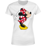 Disney Mickey Mouse Minnie Split Kiss Women's T-Shirt - White