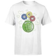 Marvel Avengers Hulk Flower Fist T-Shirt - Weiß