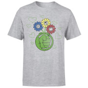 Marvel Avengers Hulk Flower Fist T-Shirt - Grau