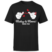 Mickey Mouse Love Hands T-Shirt - Black