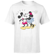Disney Mickey Mouse Minnie Kiss T-Shirt - Weiß