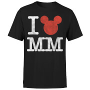 Disney Mickey Mouse I Heart MM T-shirt - Zwart