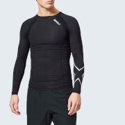 2XU Men's Compression Long Sleeve Top - Black/Silver