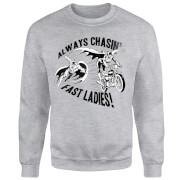 DC Comics Batman Always Chasin' Sweatshirt - Grey