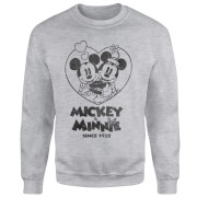Disney Minnie Mickey Since 1928 Sweatshirt - Grey