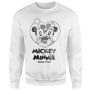 Disney Minnie Mickey Since 1928 Sweatshirt - White