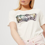 Levi's Women's Graphic Boyfriend T-Shirt - Zebra Cloud Dancer