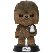 Star Wars Chewbacca with Porg Flocked EXC Pop! Vinyl Figure