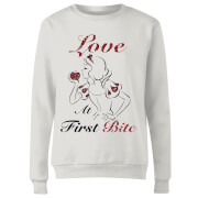 Sweat Femme Love At First Bite - Blanche - Neige (Princesse Disney) - Blanc